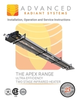 APEX Range Ultra Efficiency Two Stage Infrared Heater