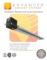 DU/DUH Range Two Stage Unitary Infrared Heaters