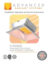 H Range Standard Efficiency High Intensity Heaters